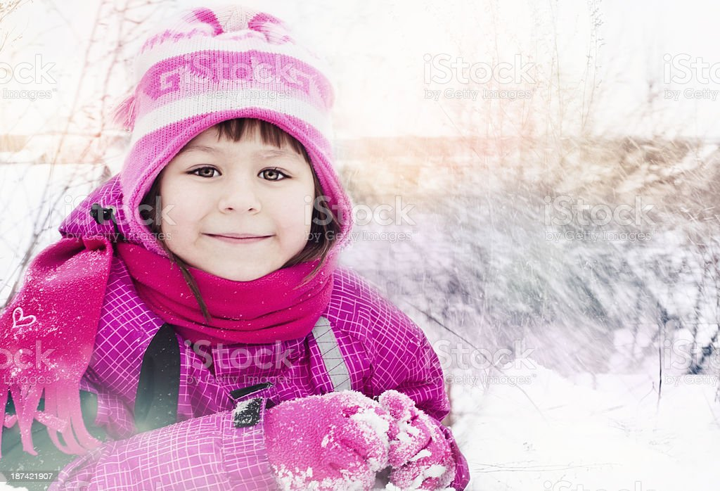 Cute little girl outdoors royalty-free stock photo