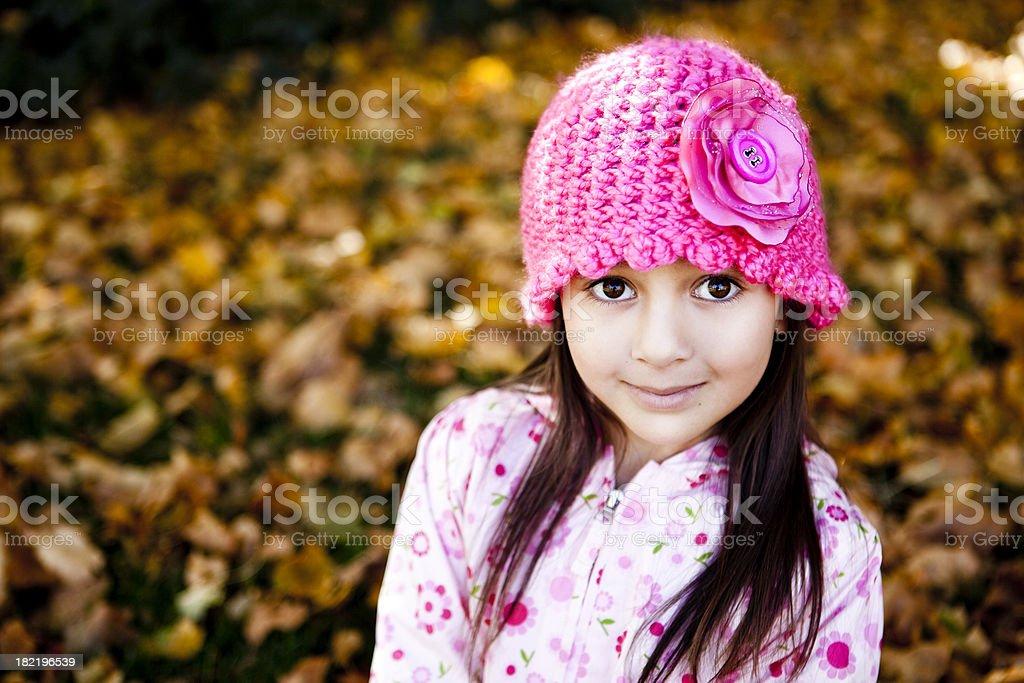 Cute little girl portrait in Autumn royalty-free stock photo
