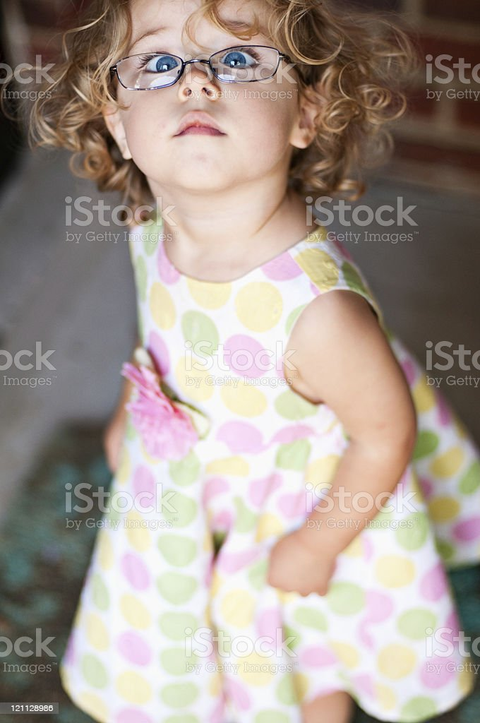Cute Little Girl Portrait royalty-free stock photo