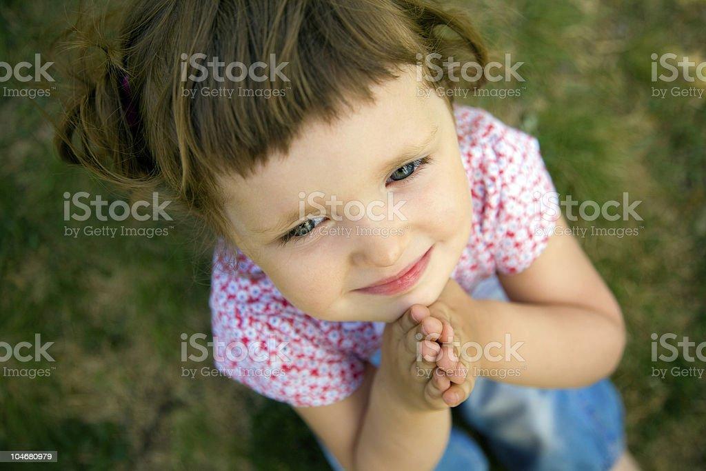 Cute Little Girl Praying stock photo