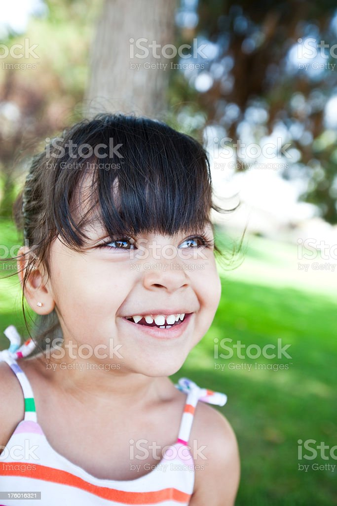 cute little girl smiling royalty-free stock photo