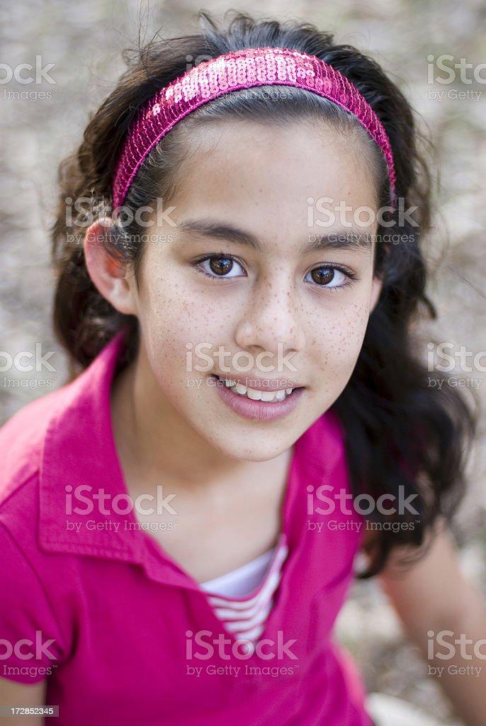 Cute little latin american girl royalty-free stock photo