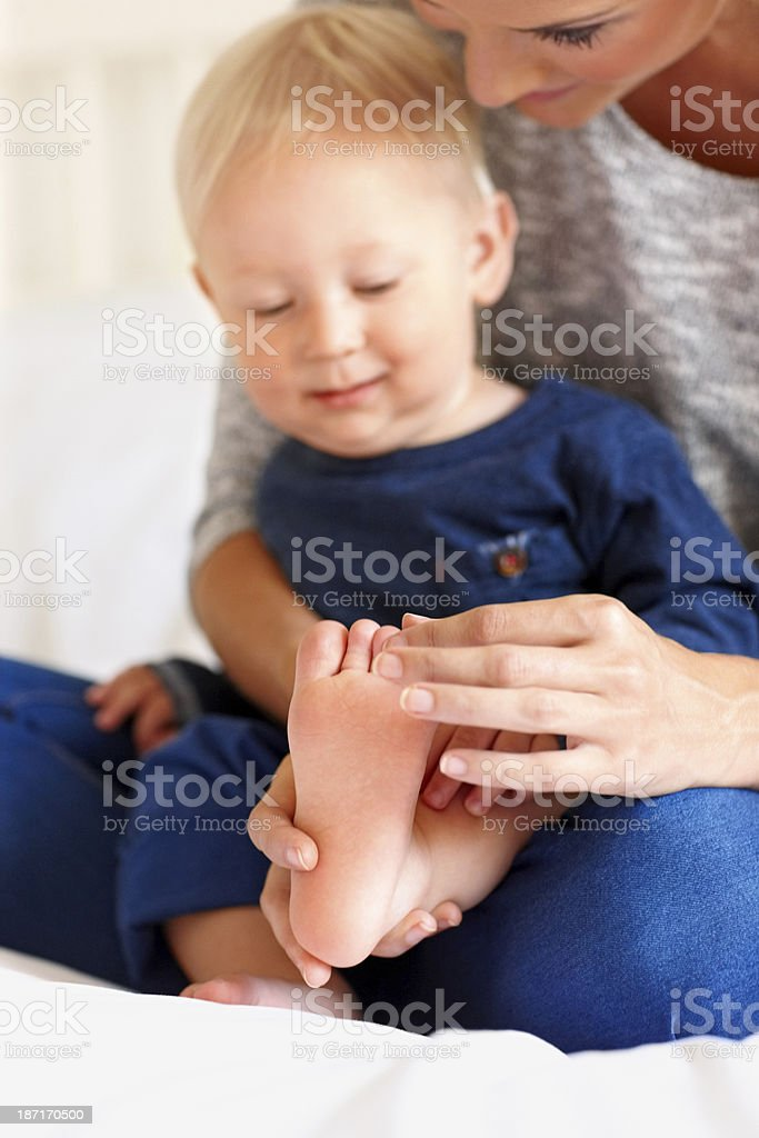 Cute little playing with his mother royalty-free stock photo