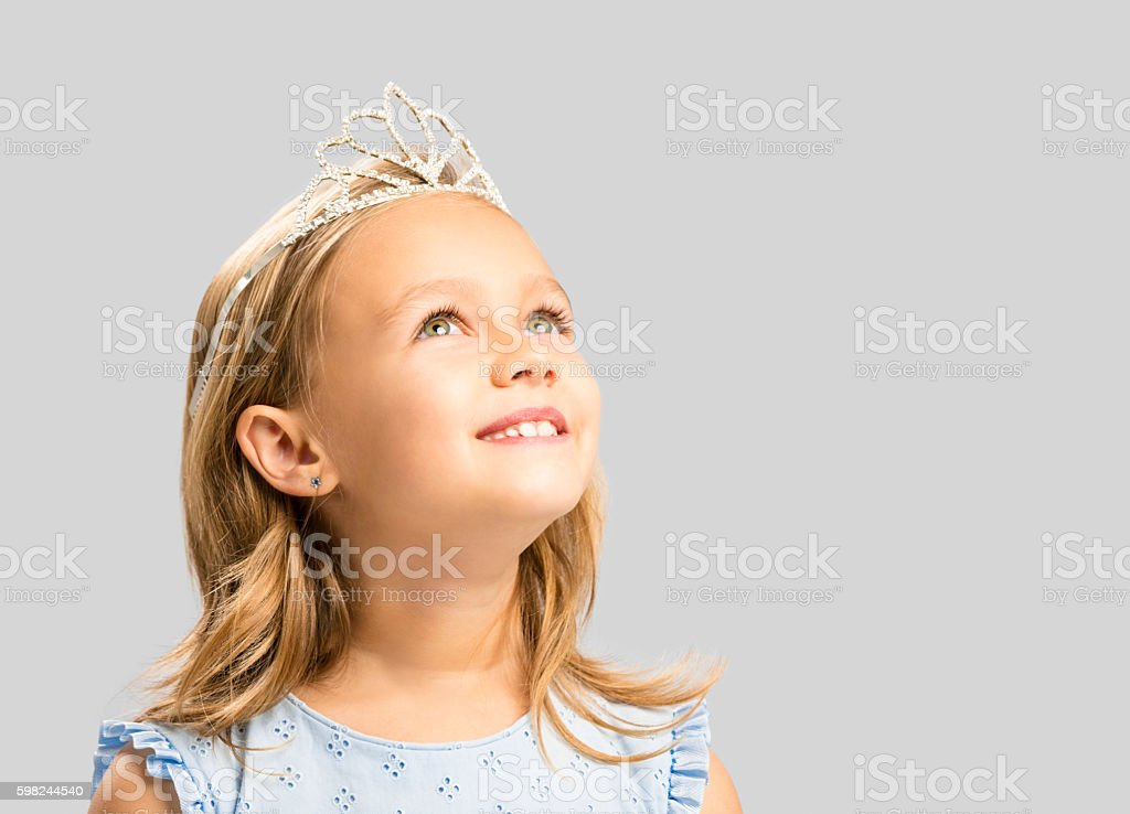 Cute little princess stock photo