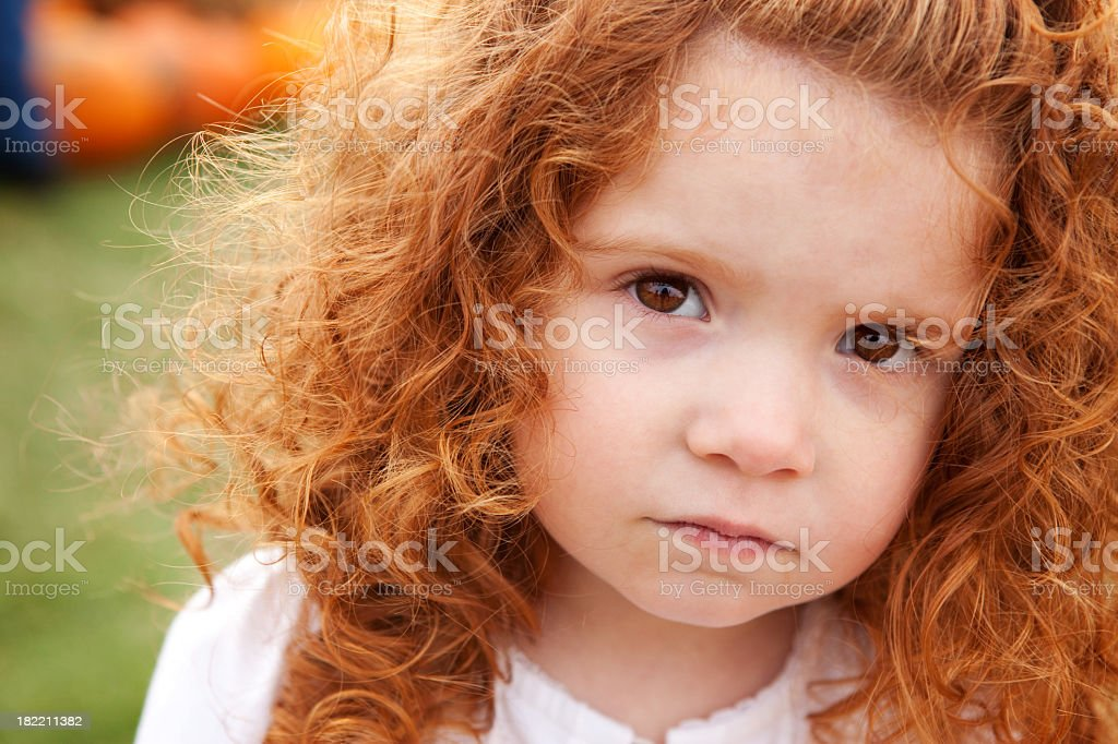Cute Little Red-Haired Girl royalty-free stock photo