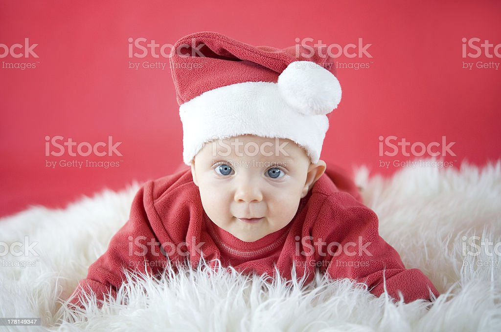 Cute Little Santa stock photo