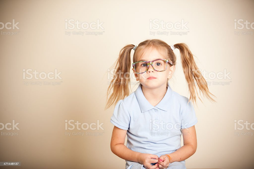 Cute Little Schoolgirl stock photo