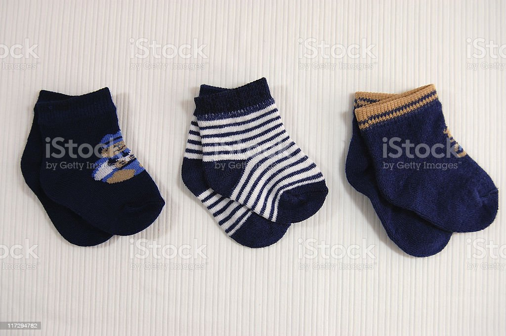 Cute Little Socks stock photo