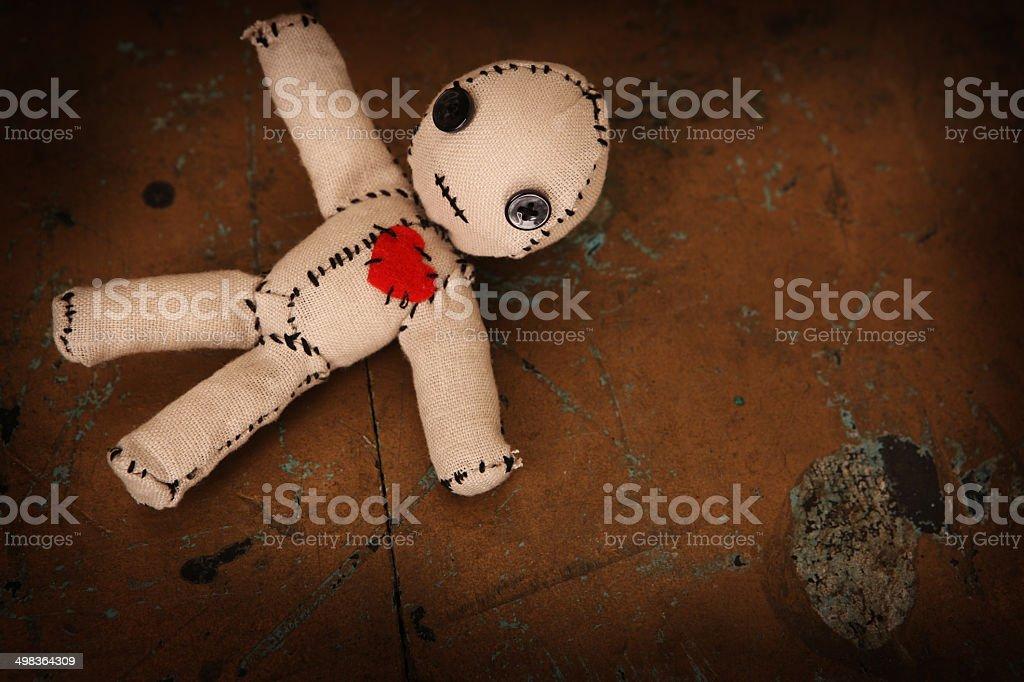 Cute Little Voodoo Doll stock photo