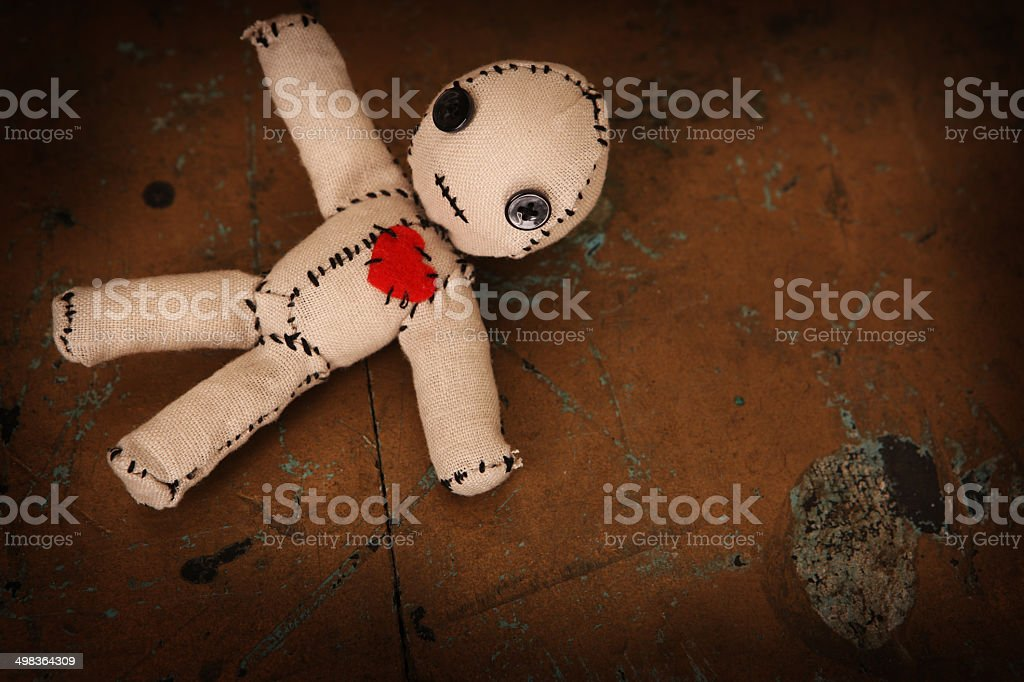 Cute Little Voodoo Doll stock photo