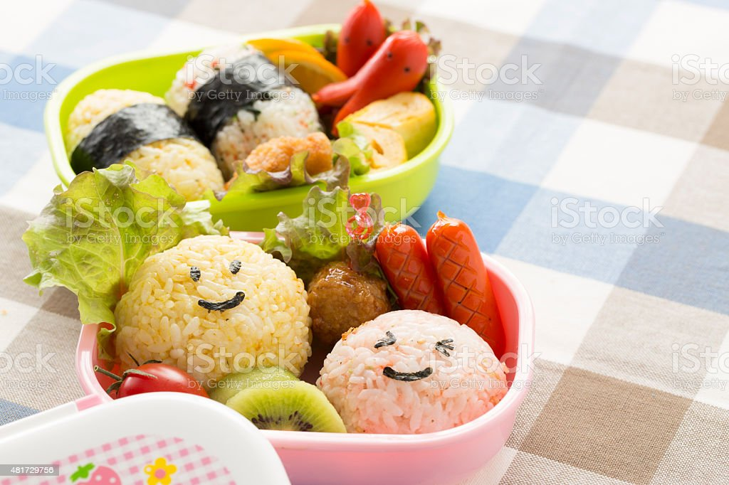 Cute lunch box stock photo
