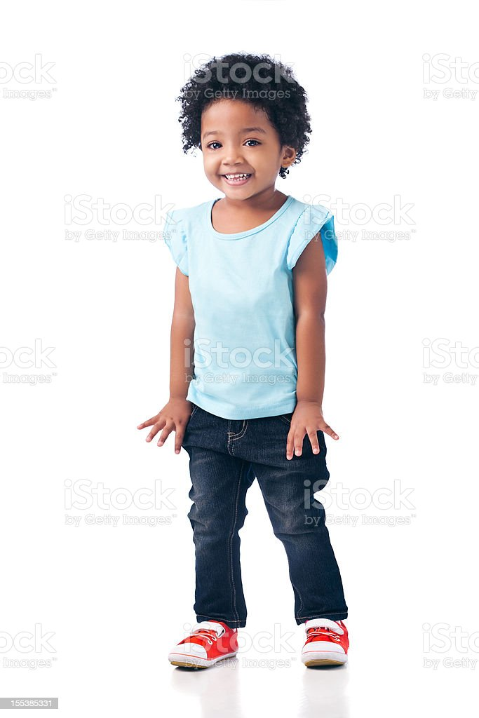Cute Mixed-race Girl stock photo