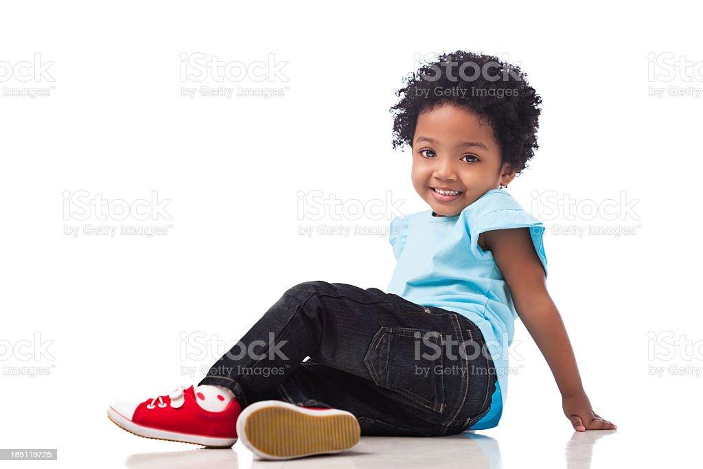 Cute Mixed-race Girl stock photo