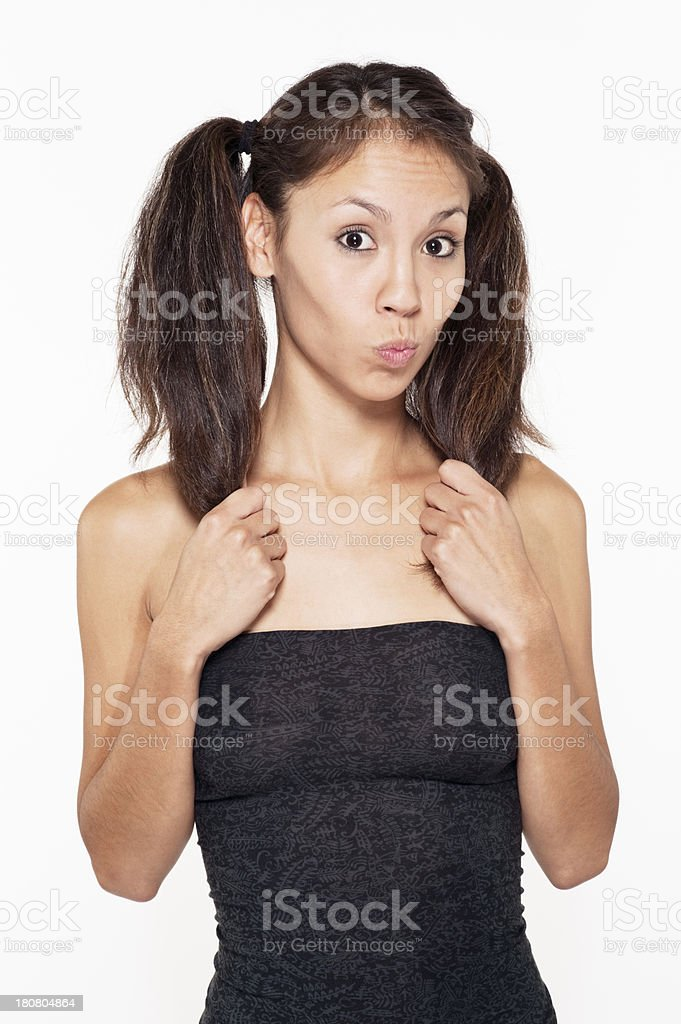 Cute Native American Woman royalty-free stock photo