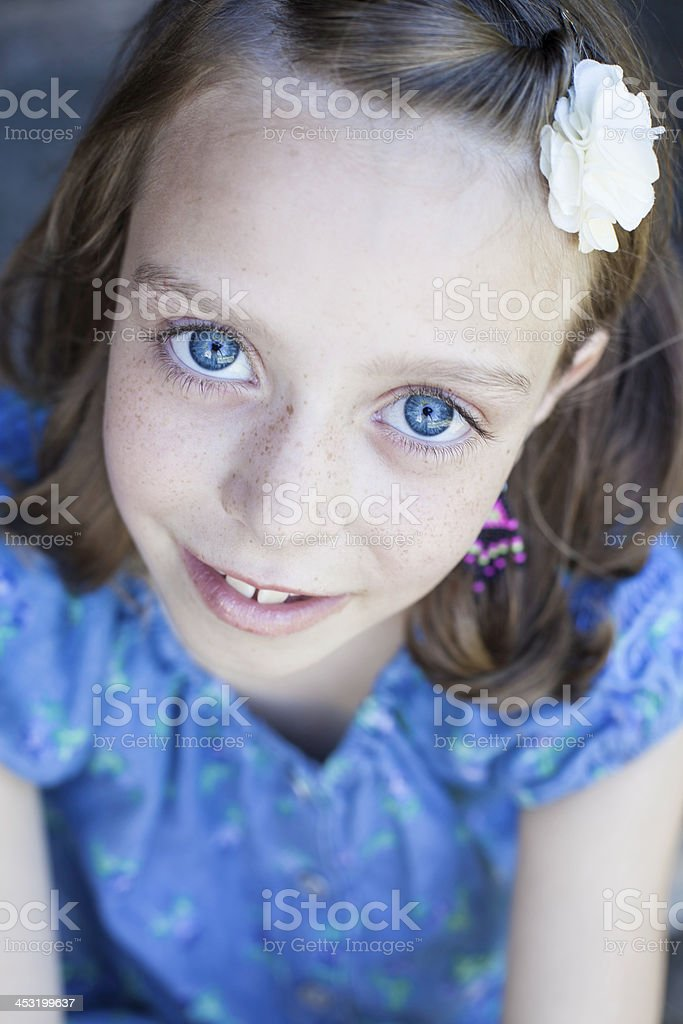 Cute Nine Year Old Girl royalty-free stock photo
