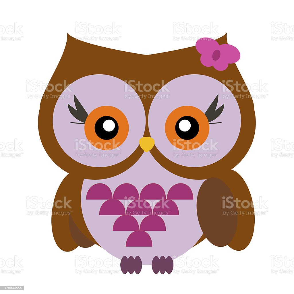 Cute owl royalty-free stock photo