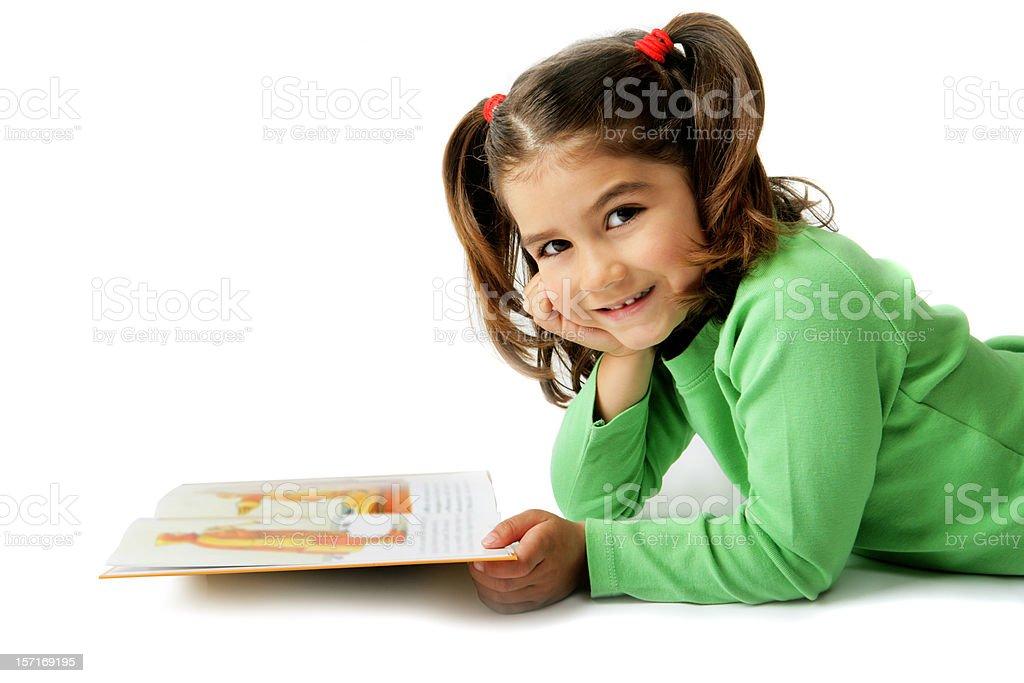 Cute reader royalty-free stock photo
