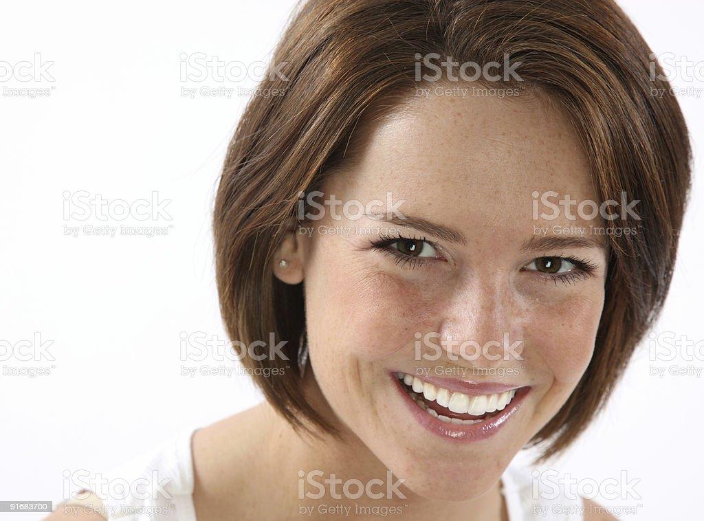 Cute Redhead headshot stock photo