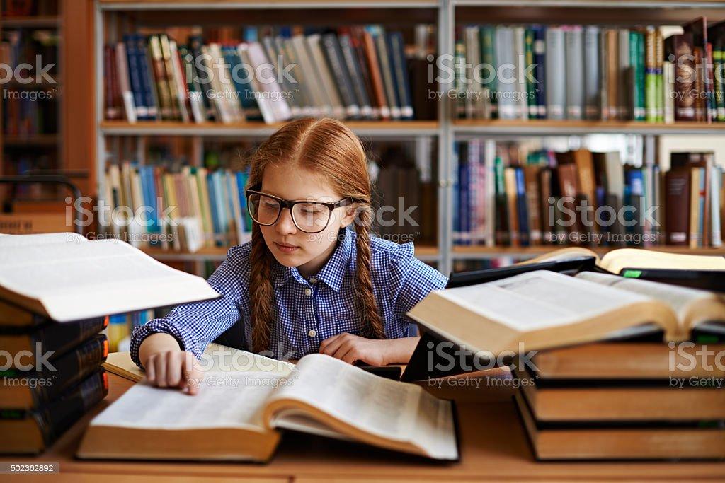 Cute researcher stock photo
