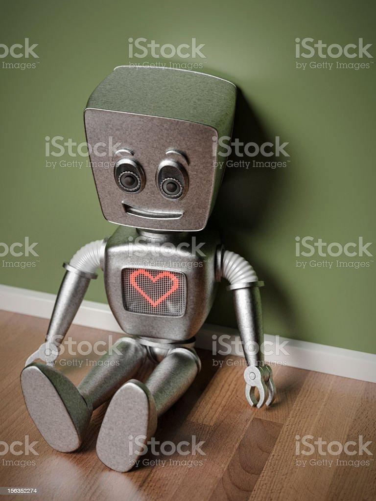 Cute Robot royalty-free stock photo