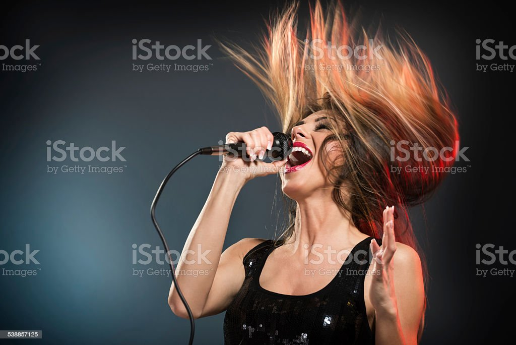 Cute Rock Star stock photo