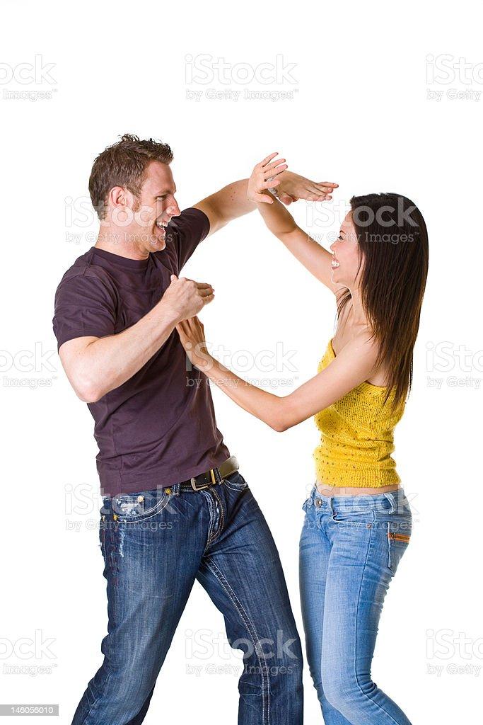 cute romantic couple in fun mood royalty-free stock photo
