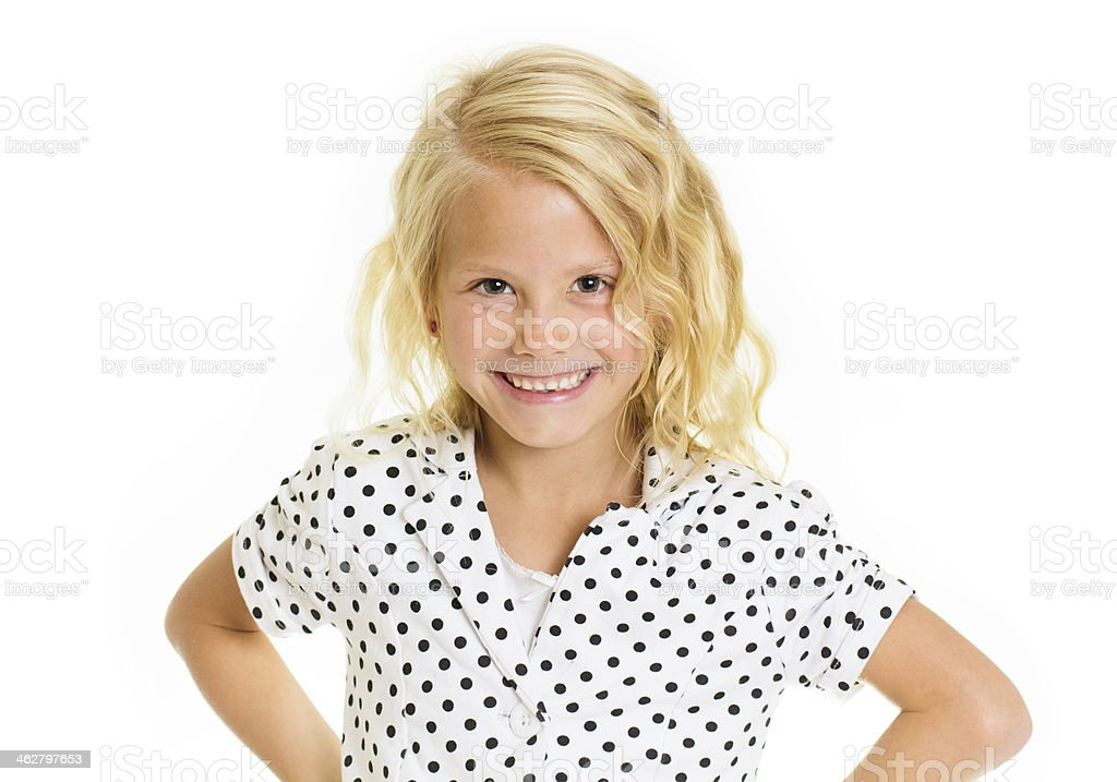Cute Sassy Little Girl stock photo