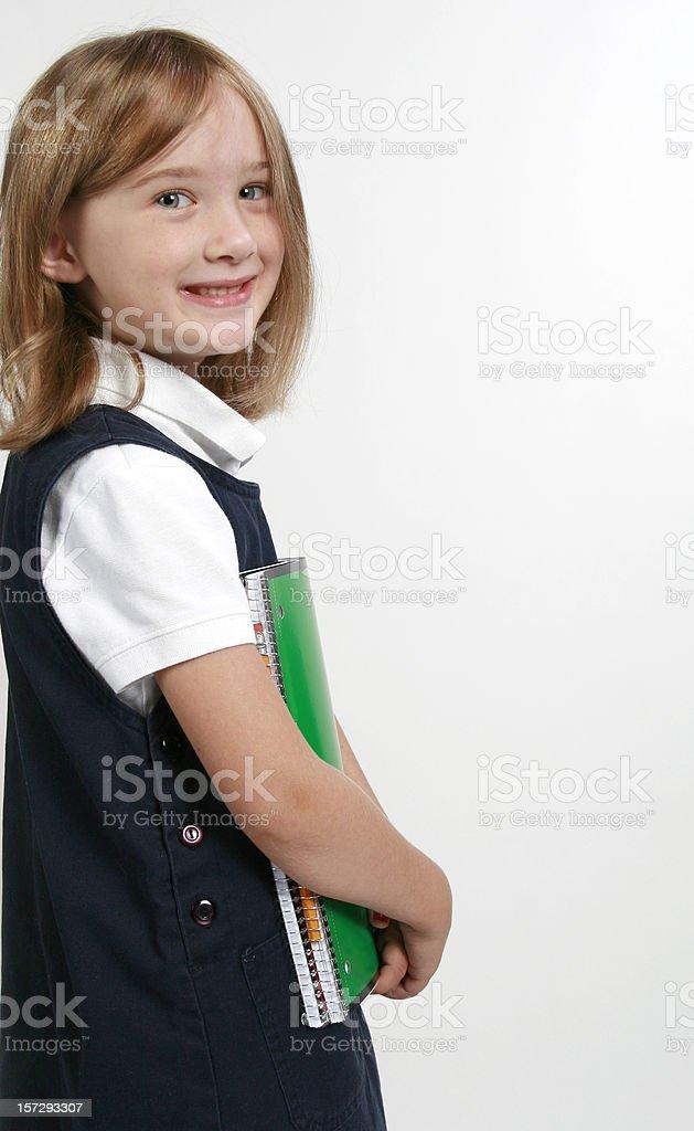 Cute School Girl royalty-free stock photo