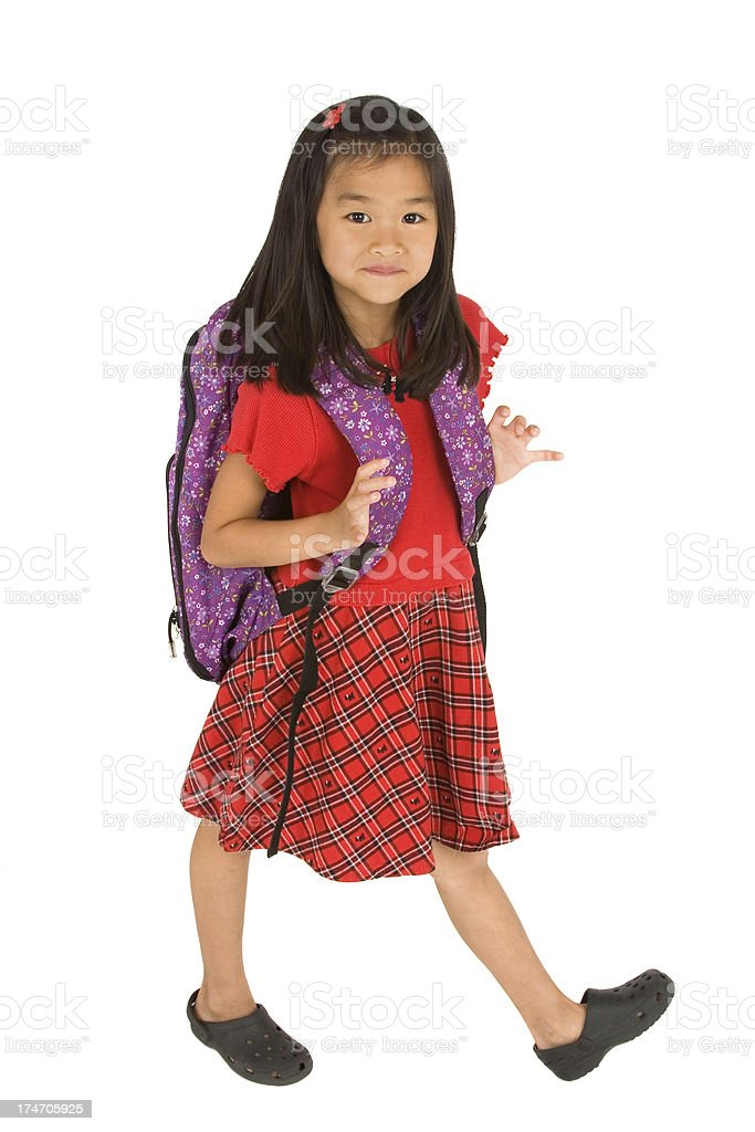 Cute Scoolgirl royalty-free stock photo