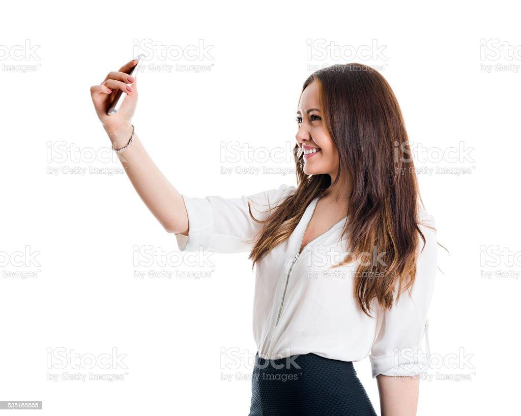 Cute selfie stock photo