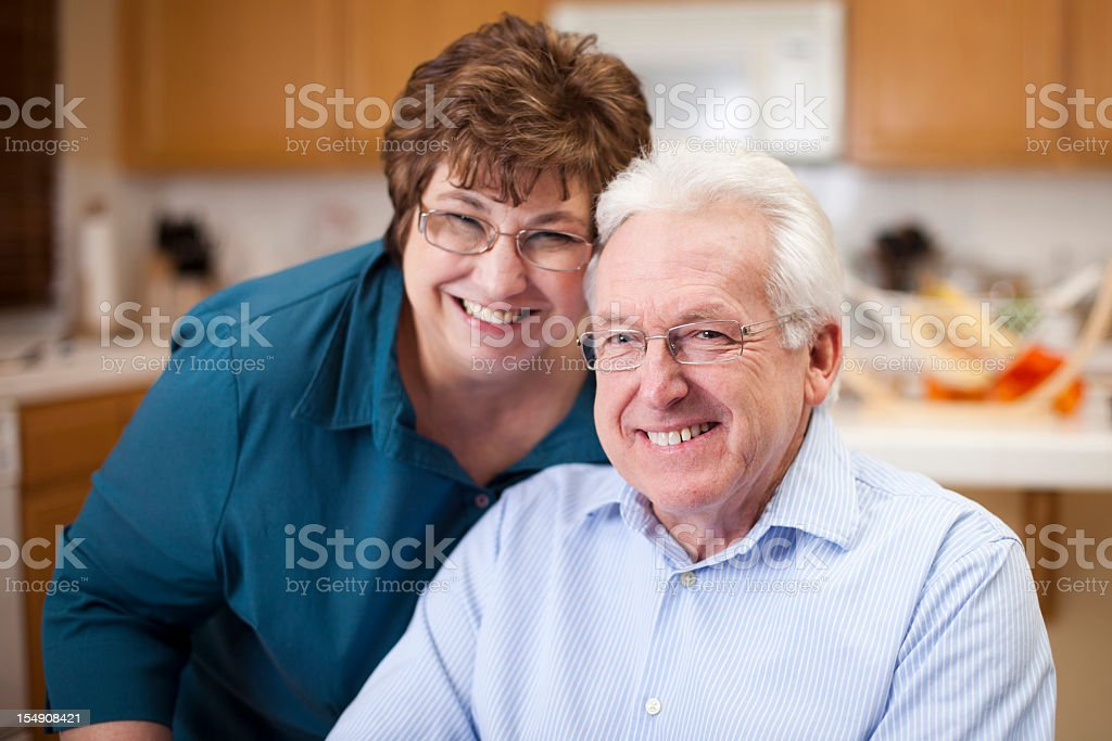Cute Senior Couple Smiling royalty-free stock photo