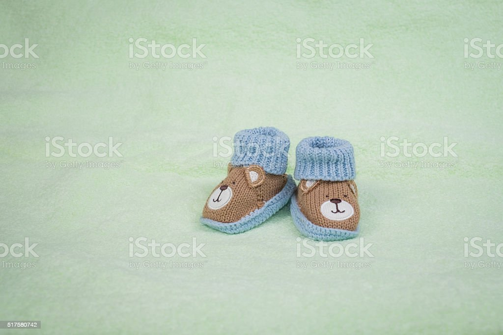 Cute Shoes for Newborn stock photo