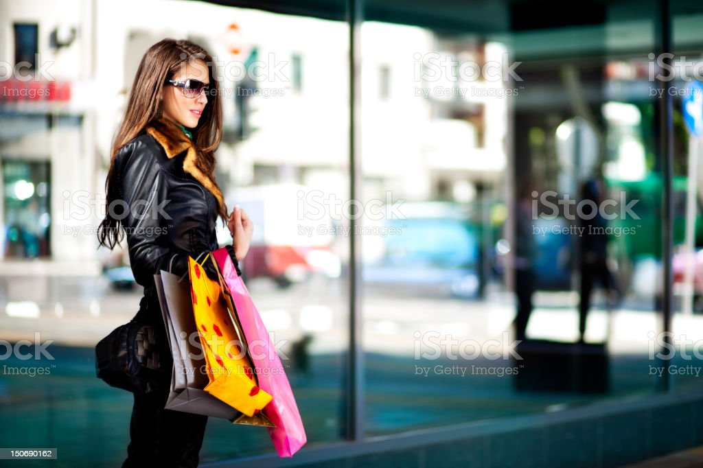 Cute Shopper stock photo