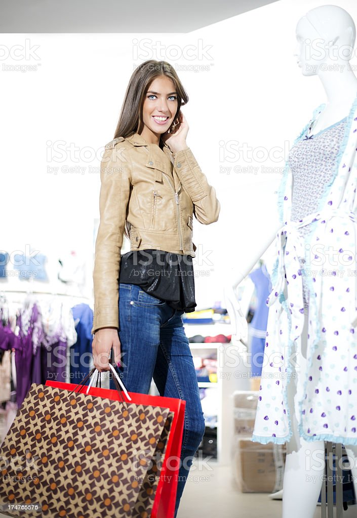 Cute Shopper royalty-free stock photo