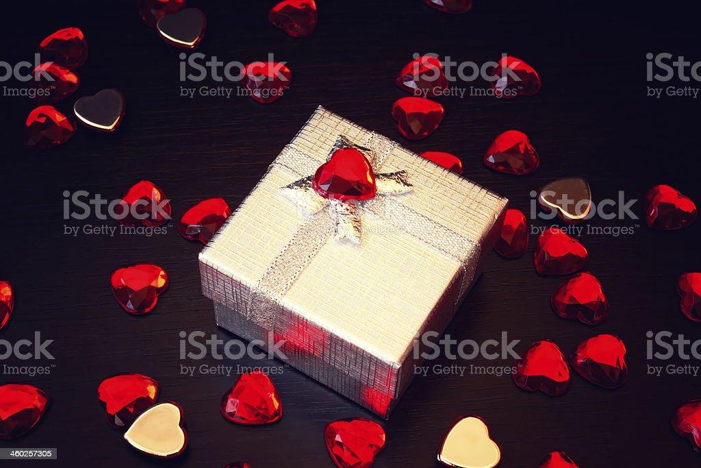 cute silver gift box royalty-free stock photo