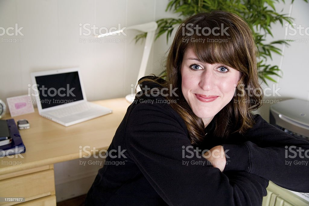 cute simple student portrait royalty-free stock photo