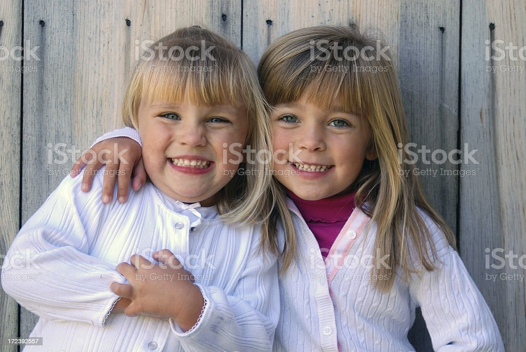 Cute Sisters royalty-free stock photo