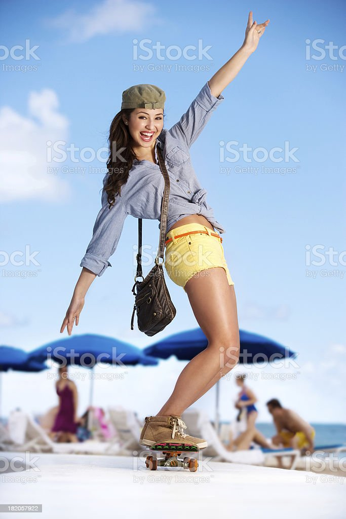Cute Skater girl royalty-free stock photo