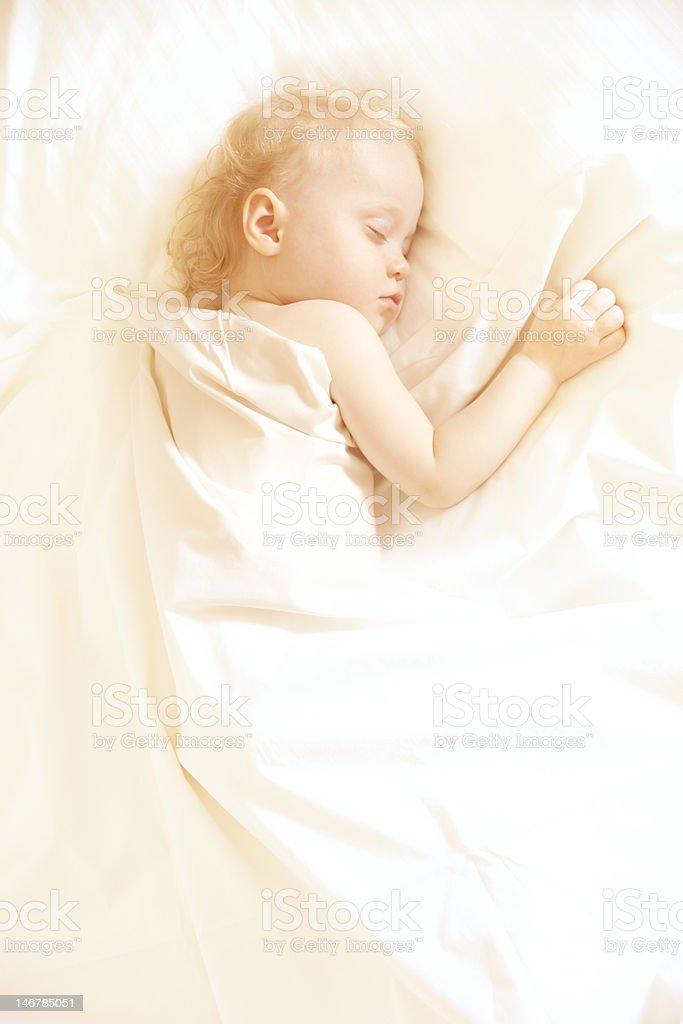 cute sleep girl royalty-free stock photo