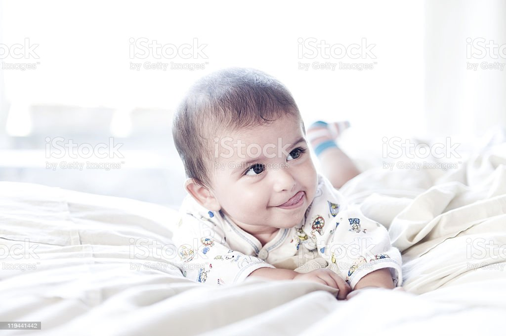 Cute smiling baby royalty-free stock photo