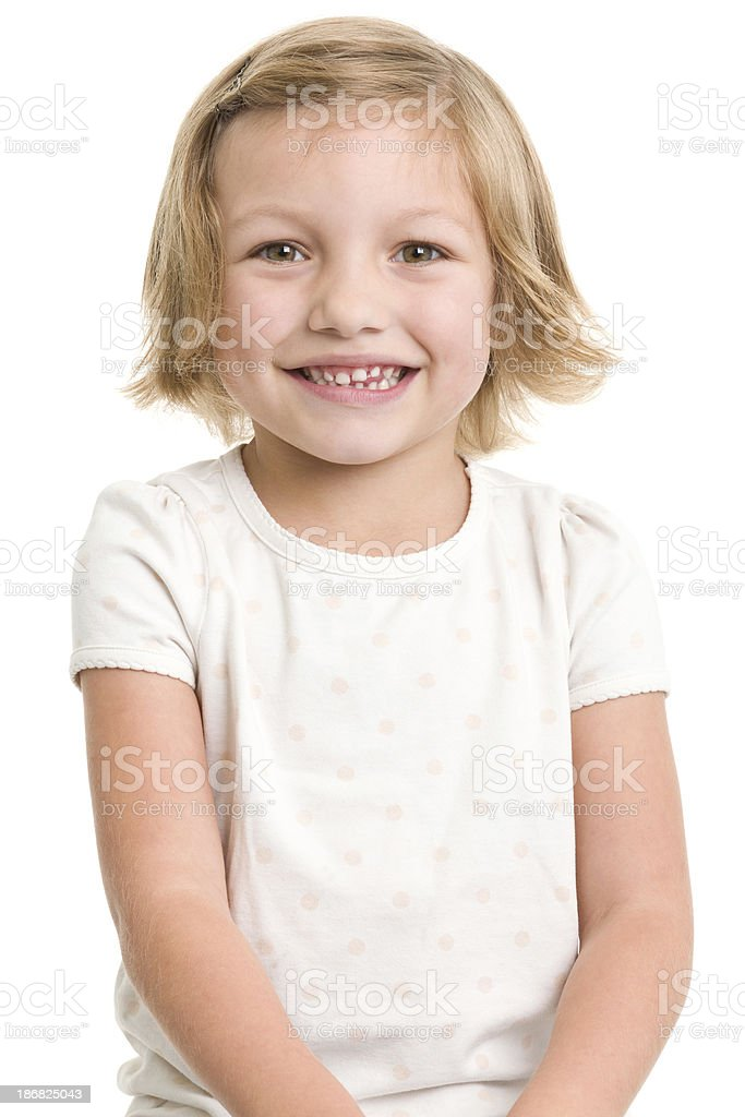 Cute Smiling Little Girl royalty-free stock photo