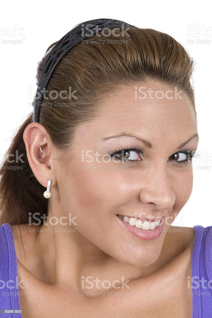 Cute Smiling Woman stock photo