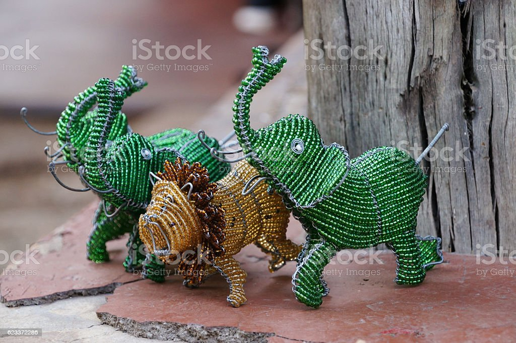 Cute souvenirs for sell ,South Africa. stock photo