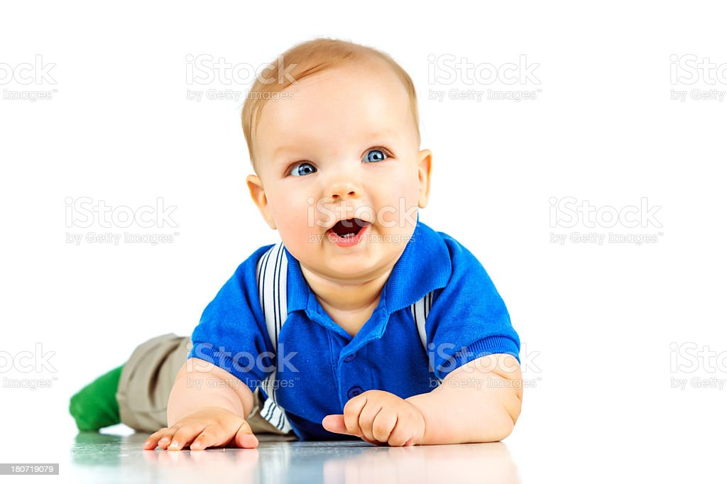 Cute surprised baby royalty-free stock photo