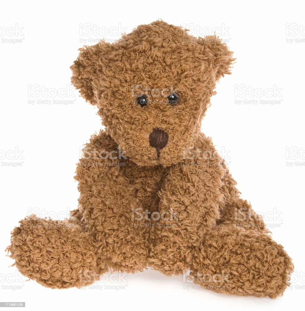 Cute Teddy Bear Sitting royalty-free stock photo