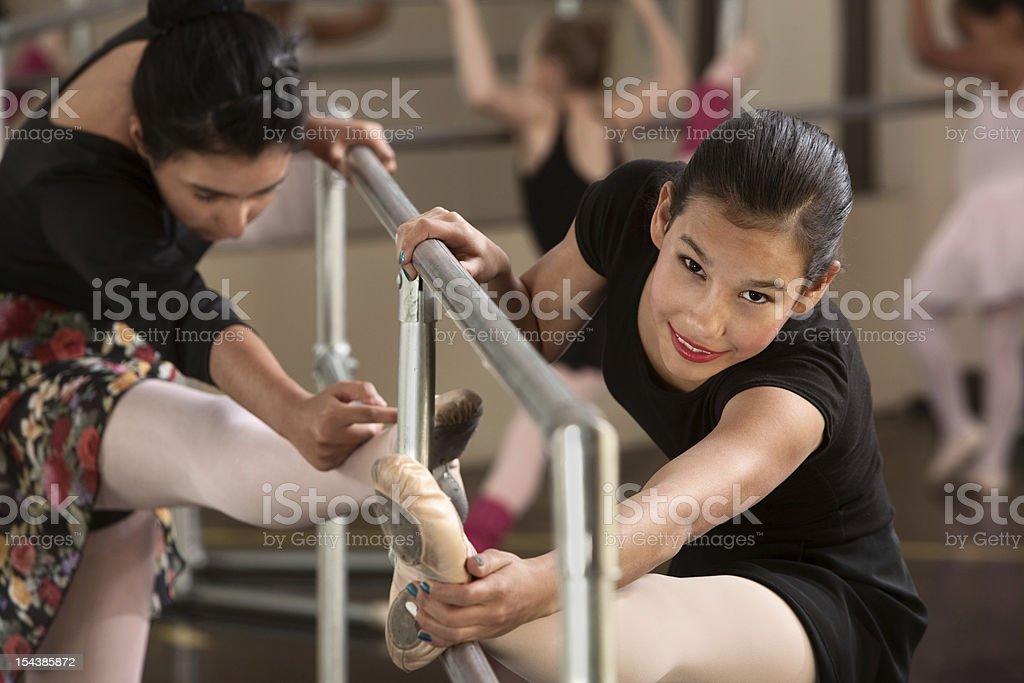 Cute Teen Ballerinas royalty-free stock photo