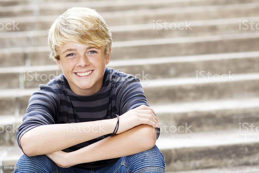 cute teen boy stock photo