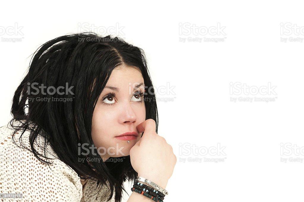 Cute teenage girl with rasta stock photo