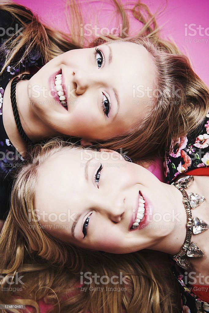 Cute teenagers royalty-free stock photo