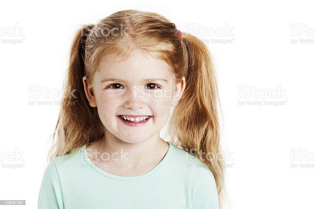 Cute Three Year Old Girl stock photo
